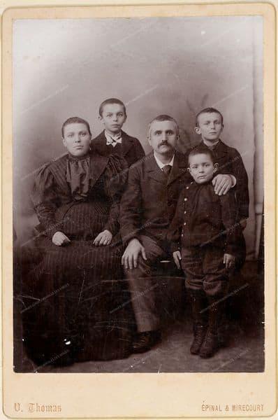 Louis Gérôme, sa femme et ses fils